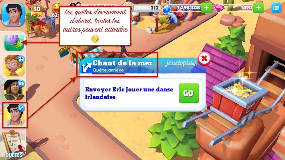Astuce Disney Magic Kingdoms La Petite Sirène
