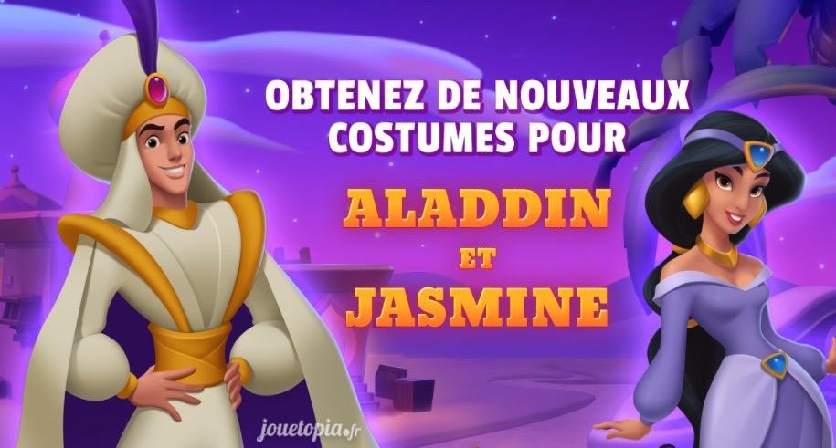 Obtenez les costumes Aladdin et Jasmine