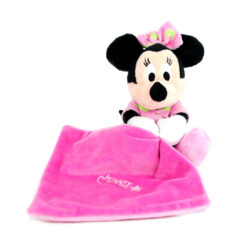 Doudou plat Minnie rose phosphorescent - Disney