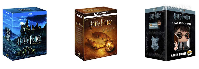 3 éditions intégrales Harry Potter en Blu-Ray / DVD