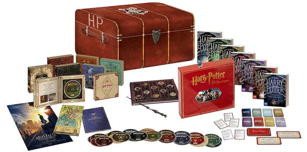 Malle rouge d'Harry Potter en coffret intégrale 8 films