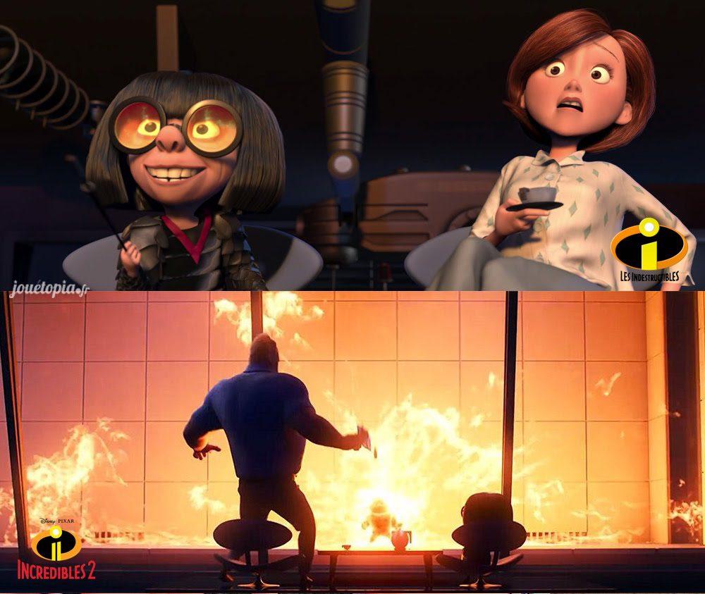 Les Indestructibles 1 et 2 : scène similaire