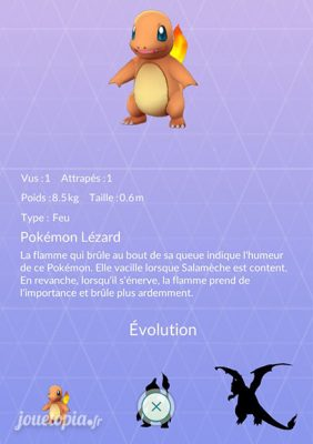 Pokémon GO : Pokédex