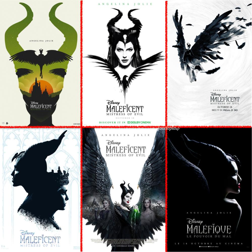 6 affiches du film Disney : Maléfique 2