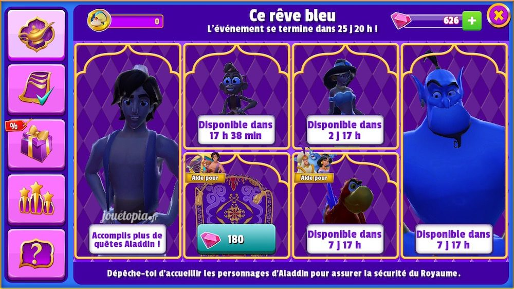 L'évènement Ce rêve bleu (Aladdin) - DMK