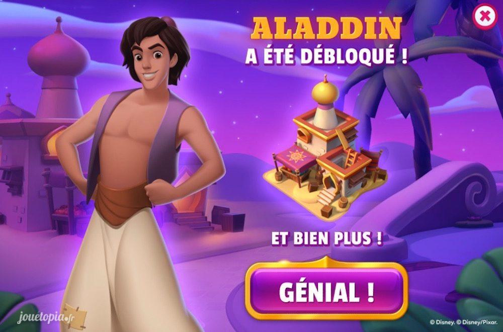 Aladdin débloqué dans Disney Magic Kingdoms
