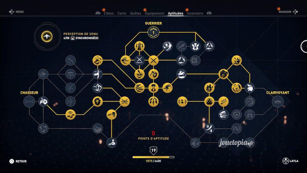 Assassin's Creed® Origins : Arbre des Compétences