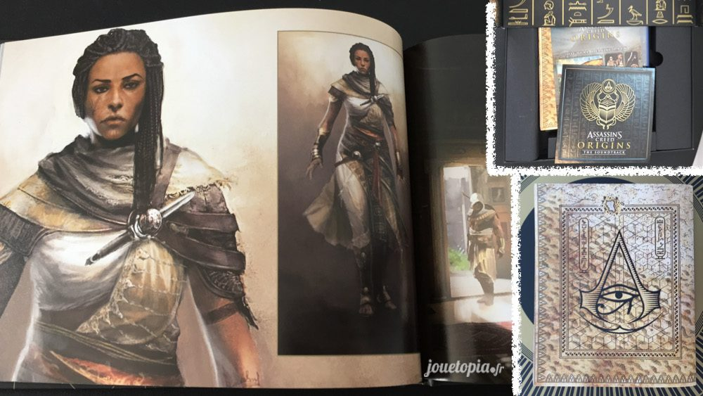 Assassin's Creed Origins : ArtBook, CD et Carte