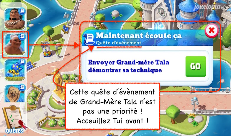 Astuce Vaiana (jeu Disney Magic Kingdoms)