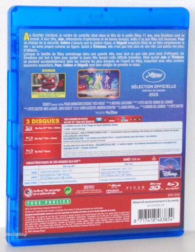 Bluray 3D Vice-Versa Disney-Pixar (FR)