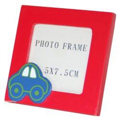 Cadre photo rouge petite voiture pour chambre de bébé