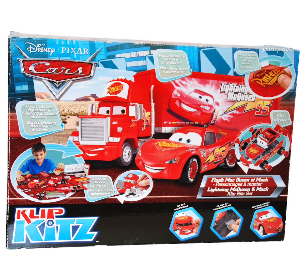 Coloriage Camion Mack.Klip Kitz Cars Flash Mcqueen Camion Mack Disney Pixar