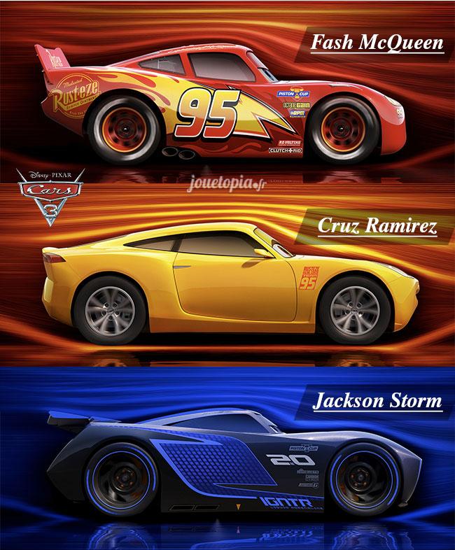 Cars 3 : Les 3 bolides du film