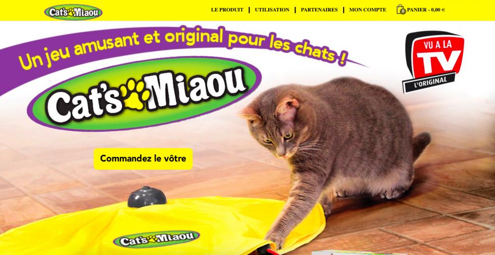 Site web pour commander Cats Miaou
