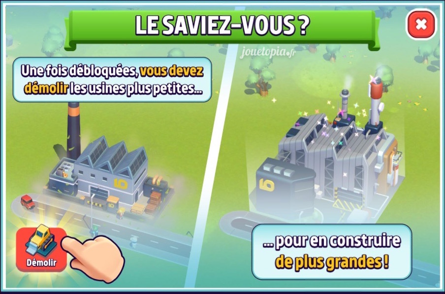 City Mania : Démolition et construction