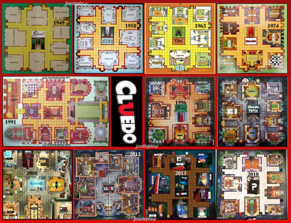 Evolution du plateau de Cluedo