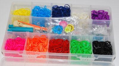 Coffret Bijoux élastiques style Rainbow Loom