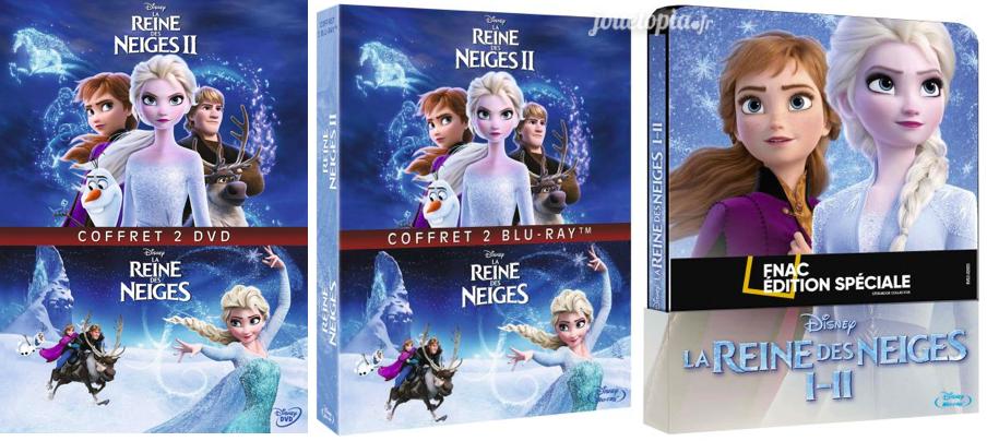 Coffret 2 films La Reine des Neiges 2 en DVD et BluRay