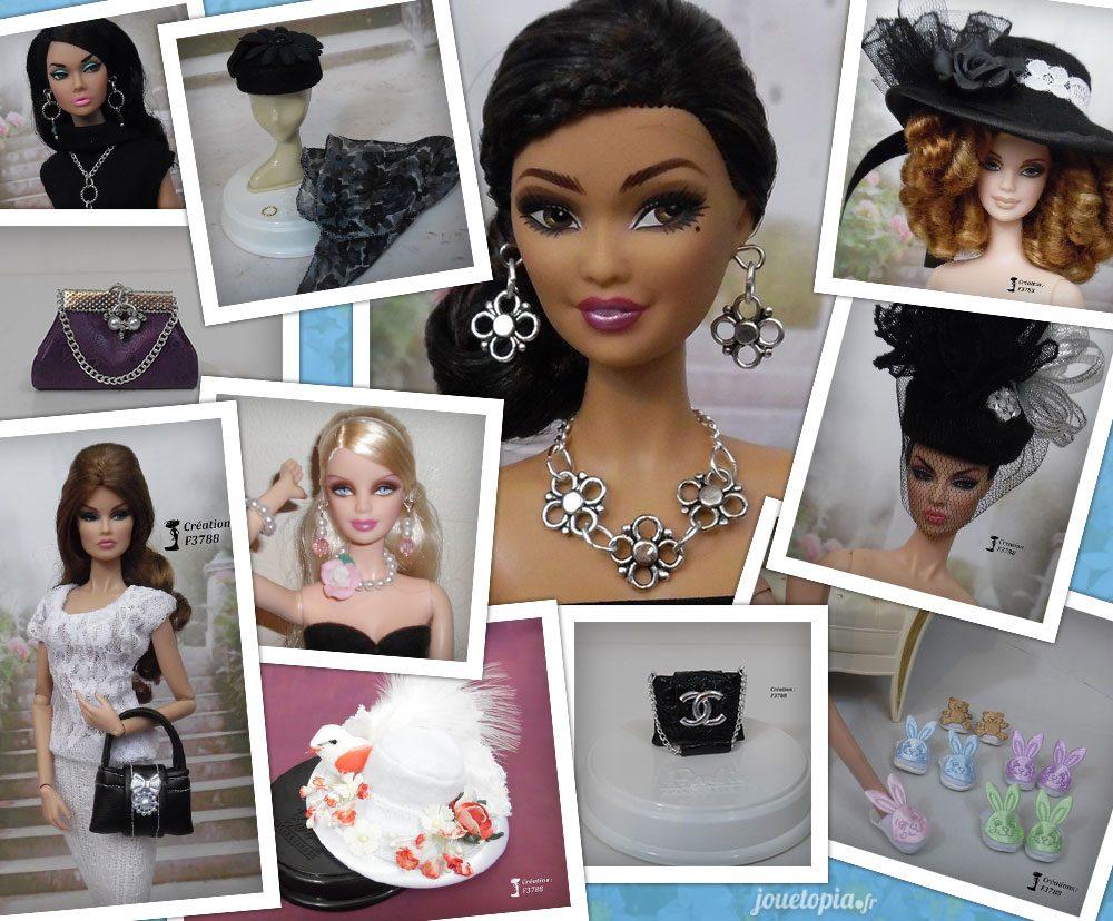 Accessoires pour Barbie, conçus par Flo
