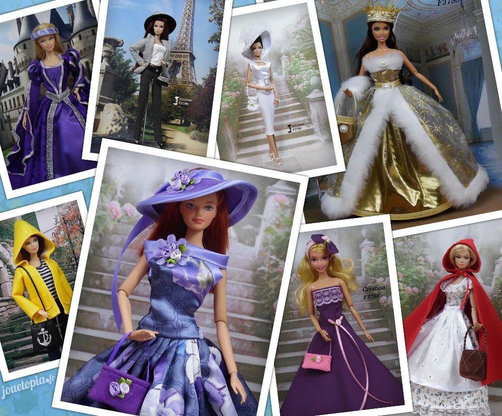 Vêtements de Barbie cousus main par Flo
