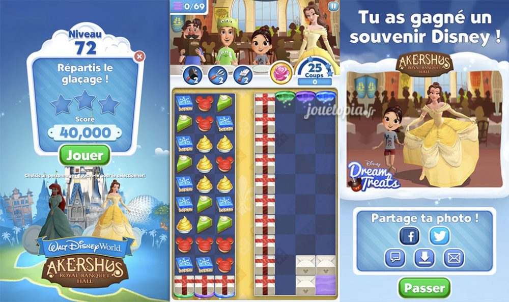 Dream Treats : Partie de jeu