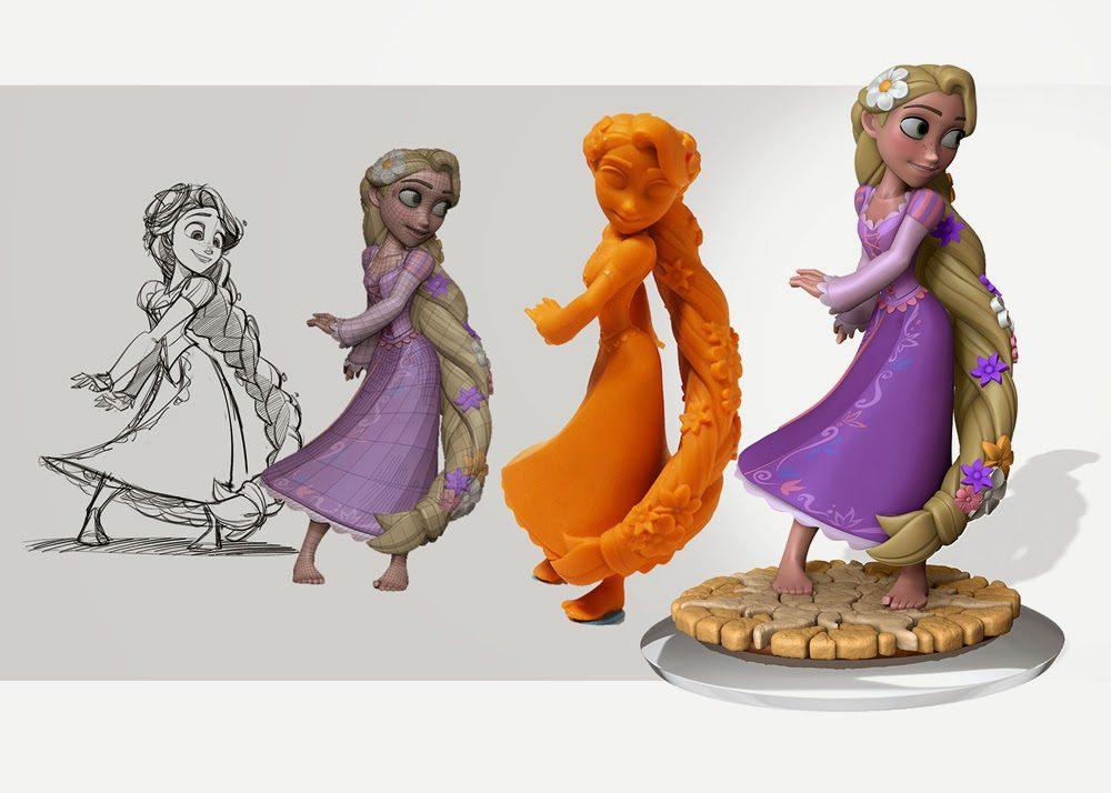 Raiponce, figurine du jeu Disney Infinity