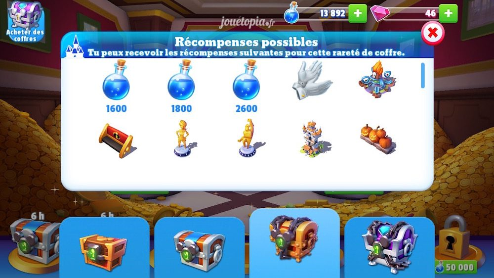 Disney Magic Kingdoms : Coffres aux trésors