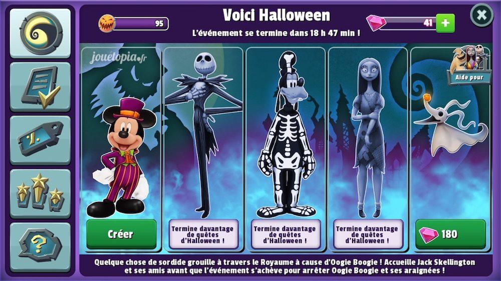 Disney Magic Kingdoms : objectifs Halloween