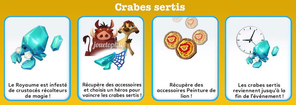 Chasse aux crabes sertis