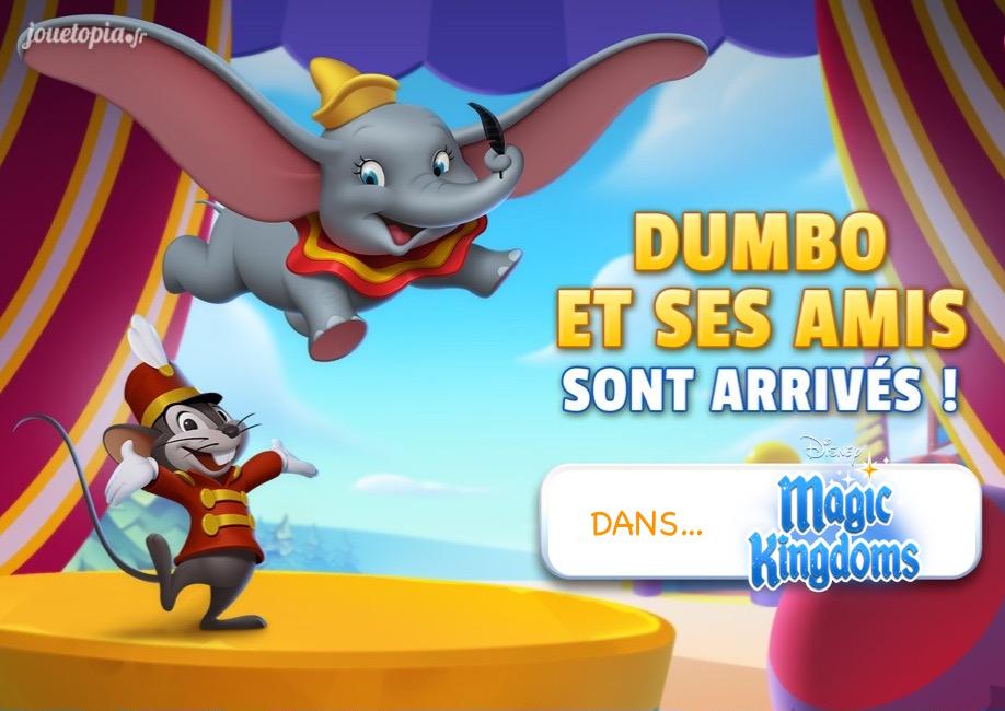 Dumbo et ses amis sont arrivés dans le jeu