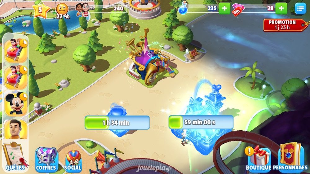 Disney Magic Kingdoms : temps d'attente