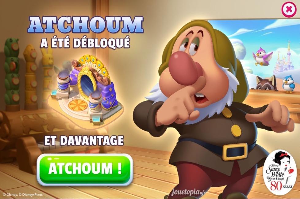 Atchoum dans Disney Magic Kingdoms