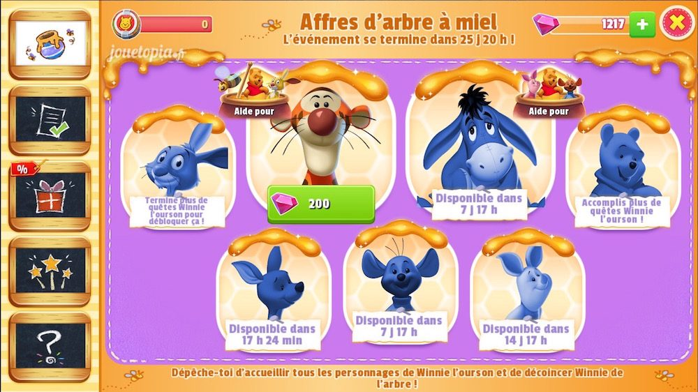Evénement Winnie l'Ourson (Disney Magic Kingdoms)
