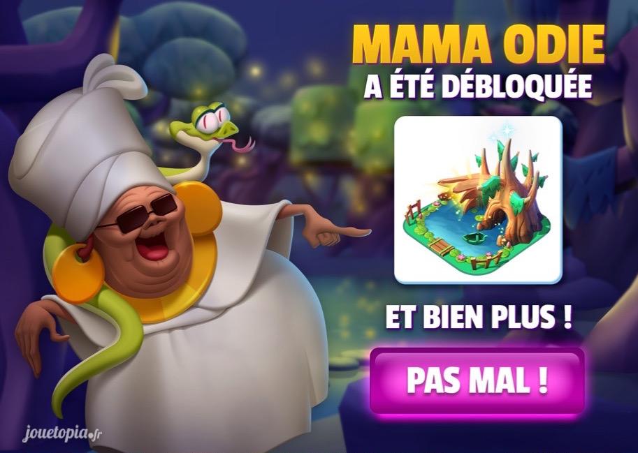 Mama Odie débloquée