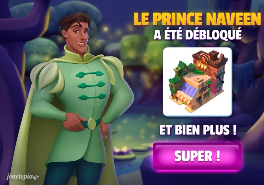 Prince Naveen débloqué