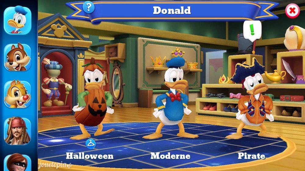 Costumes de Donald dans Disney Magic Kingdoms