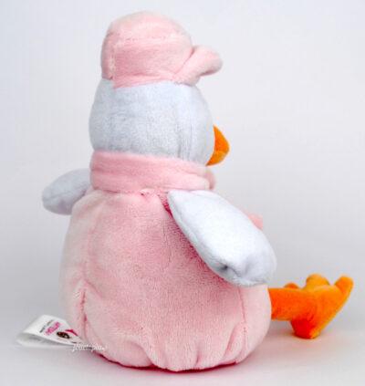 Peluche hochet rose oiseau Artesavi