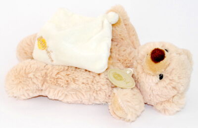 Doudou ours marron Baby Nat' mini-mouchoir