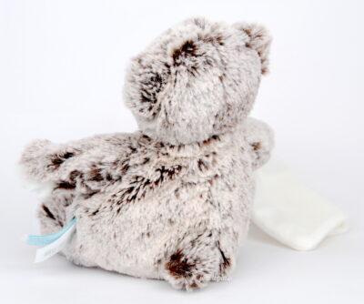 Doudou mouchoir ours gris Baby Nat'