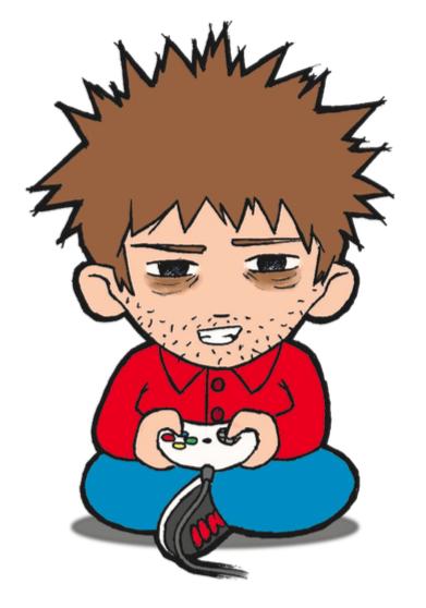 Enfant accro aux jeux vidéo