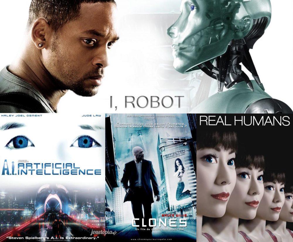 Films de robots androides futuristes