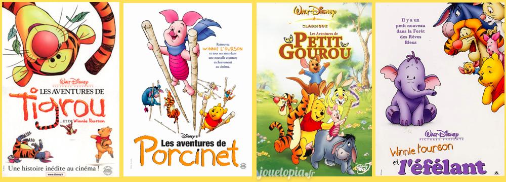 Affiches des films autour des personnages Winnie l'Ourson