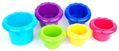 Gobelets gigognes colorés