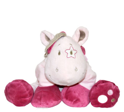 Grande peluche Lucie Noukies (cheval rose)