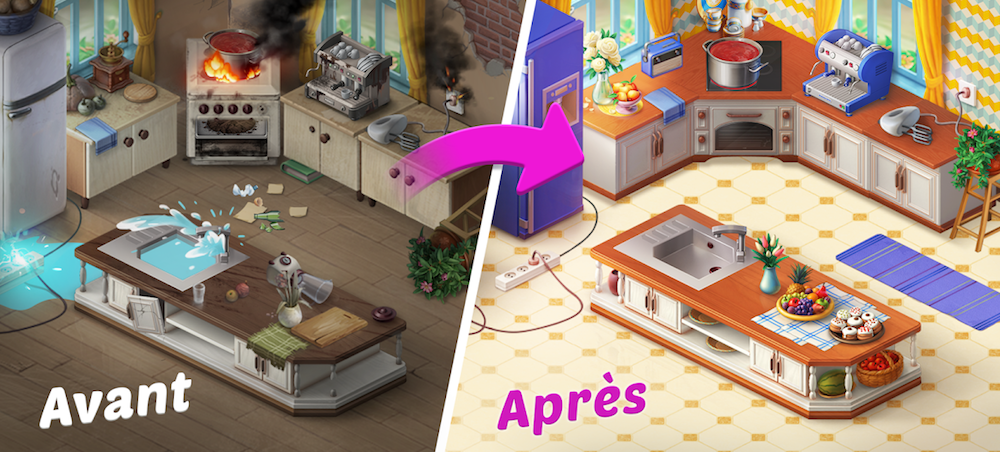 HomeScapes : rénovation de la cuisine