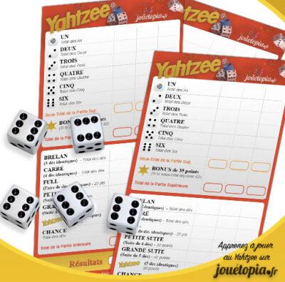 Yahtzee : grille et dès