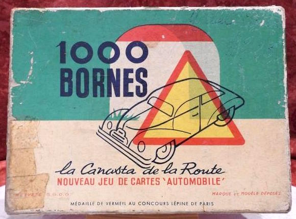 Edition 1954 du jeu 1000 Bornes