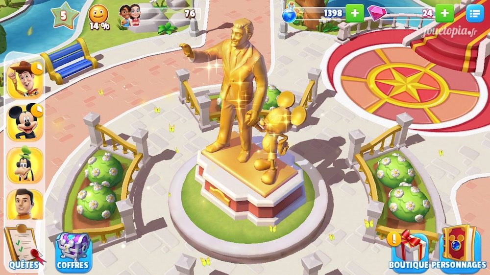 Disney Magic Kingdoms : écran du jeu
