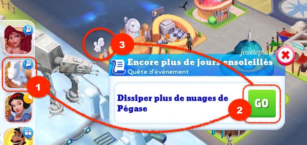 Astuce nuages de Pégase - Disney Magic Kingdoms