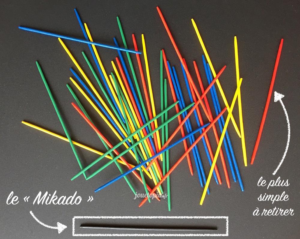 Jeu de Mikado - bâtons colorés